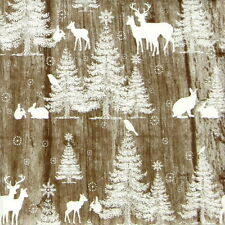 4x Single Party Lunch Paper Napkins for Decoupage Decopatch Craft In the Woods