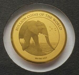 AFRIKA ELEFANT - 999 GOLD - GOLDMÜNZE - GOLDBARREN - RAR