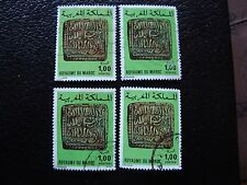 MAROC - timbre yvert et tellier n° 749 x4 obl (A29) stamp morocco (Z)