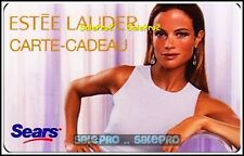 SEARS CANADA 2009 ESTEE LAUDER SUPER MODEL COSMETIC COLLECTIBLE GIFT CARD