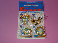 Pins RONALD McDONALD HOUSE * Hawaii * 10th Anniversary * 1987-97* 4 Pins * Nice