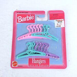 Barbie Doll Clothing Hangers New in Package Vtg 1997 Mattel Pink Green Purple