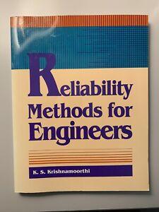 Reliability Methods for Engineers by Krishnamoorthi, K. S. , Paperback