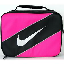 Nike Insulated Lunch Box Bag Tote Hot Pink and Black, Reflective
