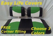 EZGO MARATHON GOLF CART CUSTOM SEAT COVERS FRONT SEAT STAPLE ON #65