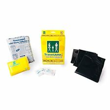 TravelJohn Disposable Solid Waste Bags KIT - 3-Pack for FESTIVALS & CAMPING