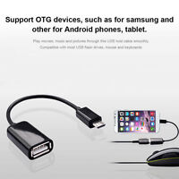 Micro USB Male to USB 2.0 Female OTG Adapter Cable For Android Mobile Tablet PC