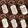 Inspirational Gifts For Mothers Day Father Keychain Keyring Pendant Mom Dad New
