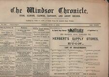 More details for the windsor chronicle june 5th 1903 original antique newspaper e2.734