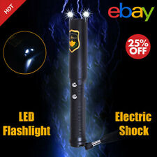 Electro Shocker Stun Gun For Self-Defense Electric Shock Wand w/ LED Flashlight