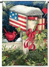"12.5"" x 18"" Christmas Cards Patriotic Mailbox Small Decorative Banner Flag"