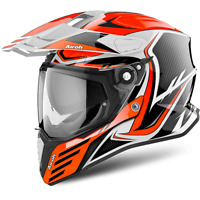 CASQUE AIROH ON-OFF COMMANDER CARBON ORANGE GLOSS CHOIX TAILLE XS / XXL
