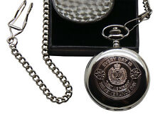 Royal Engineers Pocket Watch Army Engraved Custom Personalised Chain Luxury Case