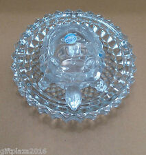 BEAUTIFUL CRYSTAL TORTOISE/TURTLE WITH PLATE - FENG SHUI/VAASTU GIFT - LARGE