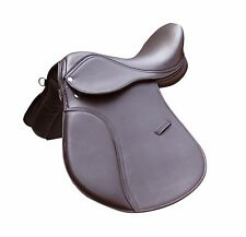 """TOP QUALITY SYNTHETIC HALFLINGER HORSE SADDLE BROWN COLOR IN 14"""",15"""",16"""",17"""",18"""""""