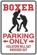 "Metal Sign Boxer Parking Only 8"" x 12"" Aluminum S259"