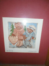 Linda Felix Ybarra sgnd/numbered hand printed/colored BEAR LOVE,teddy bears