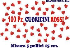 PALLONCINI CUORE ROSSO CUORICINI 100 Pezzi 13-15 cm diam 6 Pollici Sposi Party