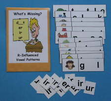 Teacher Made Literacy Center Resource Game R-Influenced Vowels er, ir & ur