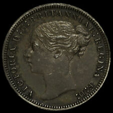 More details for 1875 queen victoria young head silver threepence, a/unc
