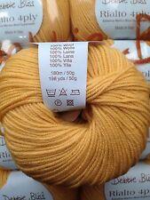 6 x 50g Debbie Bliss Rialto 4 ply shade 39 Amber lot 555