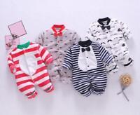 1pc Newborn Baby clothes baby boys girls fleece bodysuit winter warm jumpsuit