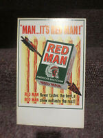 "Old Red Man Chewing Tobacco ""Man...It's Red Man!"" Cardboard Advertising EXC"