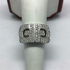 bvlgari parentisi revolution 18k white gold diamond ring size 675