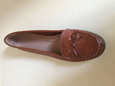 BNWT WOMEN LADIES TAN MOCCASINS FOOTGLOVE SOFT Leather SHOES SIZE  6.5 -7
