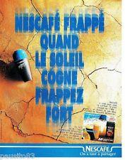 PUBLICITE ADVERTISING 116  1996   le café Nescafé  Frappé