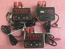 Lot of 3 TEKIN PEAK DETECTOR 850 & DIS-180 Charge