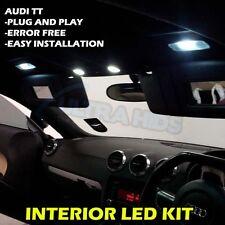 Audi TT MK2 LED Interior Lights Bulbs Kit - XENON WHITE 4PC Upgrade SMD 501 T10