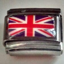 Union Jack BRITISH FLAG 9mm Italian Charm Fits Classic Bracelet Link