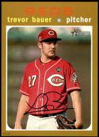 Trevor Bauer 2020 Topps Heritage 5x7 Gold #2 /10 Reds