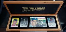 TED WILLIAMS SIGNATURE SERIES PORCELAIN 4 PIECE WITH AUTOGRAPH CARD & COA RARE