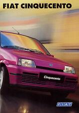 Prospetto FIAT CINQUECENTO prospetto auto 1997 04.2.8135.50 a-1/97 auto PKW Italia