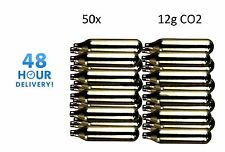 50 x Mosa 12g di CO2 GAS Capsula Cartuccia Aria Rifle Pistola fucile Airgun 12 g