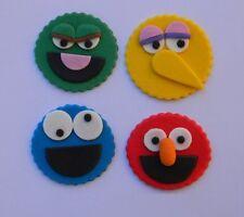 12 edible SESAME STREET cake CUPCAKE topper DECORATION ELMO cookie OSCAR bird