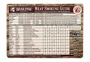 Bear Paws Meat Smoking Guide Magnet - Smoker Accessories - Grilling/BBQ Quick