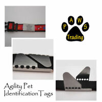 Stainless Steel Laser Engraved AGILITY DOG/PET ID COLLAR TAG (No rings)