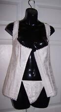 Women's Plus Size White Bustier Corset & Thong Panties 5XL to 6XL Print Wedding