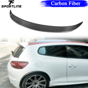 Carbon Fiber Rear Roof Top Wing Spoiler Lip for VW Scirocco R 09-14 GTS 2013-14