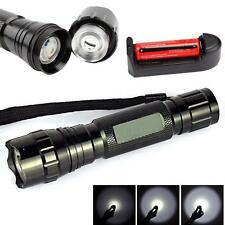 WF-501B 2500LM CREE XM-L T6 LED Flashlight Torch Lamp + 18650 Battery Charger GA