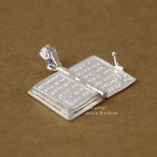 925 Sterling Silver Religious Lord's Prayer Holy Bible Pendant Charm A2061