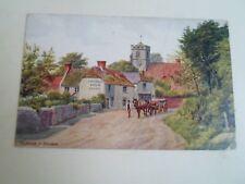 A R QUINTON Postcard 2058 FELPHAM Nr Bognor+Church Farm Dairy Franked 1928 A2332