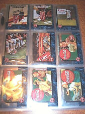 Vintage Coca Cola Cards Set 50 Complete Sprint Phone Cards Coke Calling Card Lot