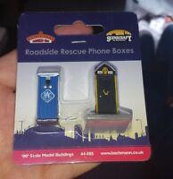 OO Gauge Bachmann 44-585 Roadside rescue Phone Boxes Model Railway