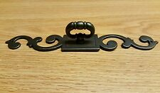 (4) Drawer Pulls with 8 x 1 1/4 Inch Backplate  Metal with Bronze Finish.. NEW