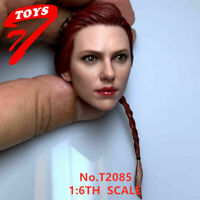 "1/6 Black Widow Scarlett Head   Kopfskulptu Head Sculpt for 12"" Figure Model"