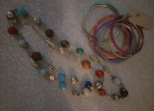 & new multi colour bangles 'Next' Gorgeous ladies multi beaded long necklace